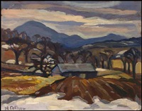 orford mountain, magog, pq by nora frances elisabeth collyer