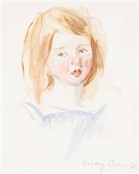 tete de fillette by mary cassatt