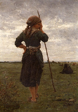 the shepherdess by pierre billet