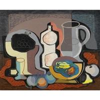 stillleben mit früchten und krug (still life with fruits and a jug) by rudolf ausleger