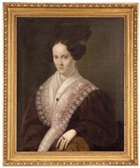 dreiviertelportrait einer bürgerlichen dame by johann nepomuk huber