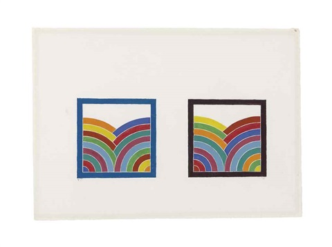 design for olympic games poster by frank stella