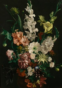 still life of flowers by ludwig bartning