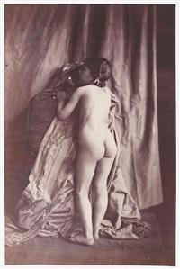 études de nu (fillette) (2 works) by eugène (jean louis marie) durieu