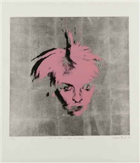 me as him in pink and black by gavin turk