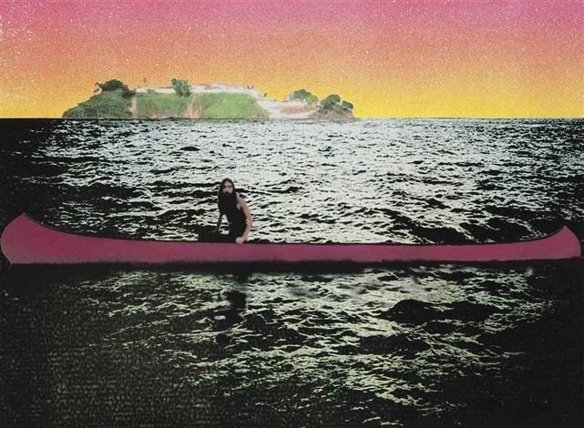 canoe - island by peter doig