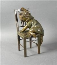 kleines mädchen mit stuhl by juan clara ayats