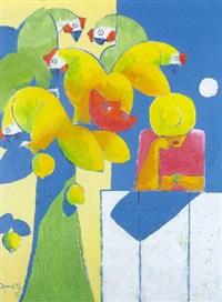 personajes con pájaros by olmedo quimbita