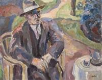 homme au jardin by eugene dabit
