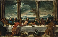 the last supper (after paul veronese) by lord leighton
