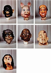 masks (small)(from the propo series; portfolio of 7) by paul mccarthy