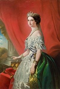 porträt der kaiserin eugénie, ehefrau napoleons iii. von frankreich by franz xaver winterhalter