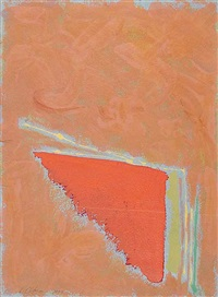 untitled (tangerine triangle) by dan christensen