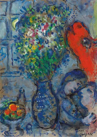 lâne rouge dans latelier by marc chagall