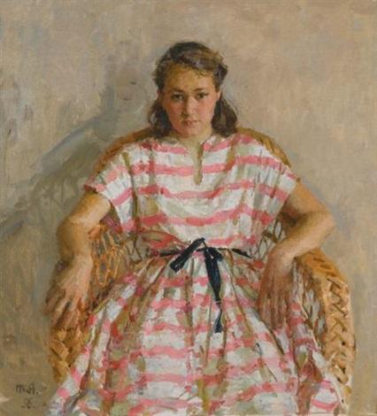 portrait of the artists daughter by tatiana yablonskaya