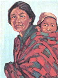 cree mother and child by mildred valley thornton