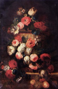 bouquet de fleurs (by g. jourlet) by cornelis lens