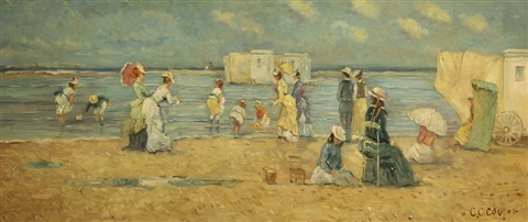 beach scene by colin campbell cooper
