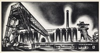 blast furnace by louis lozowick