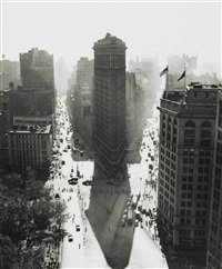 flatiron building in summer by rudy burckhardt