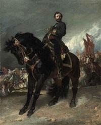l'arrivée du général prim devant madrid (study) by henri regnault
