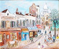 montmartre, la place du tertre by bruno emile laurent