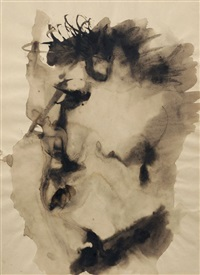 kopf einer frau im profil nach links, mit widerborstigem kurzhaar by hermann glöckner