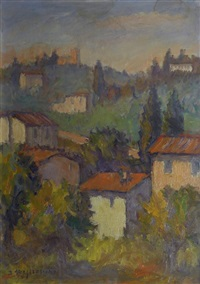 paesaggio con case by dino migliorini
