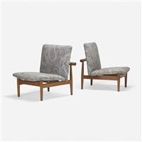japan chairs model 137, pair by finn juhl