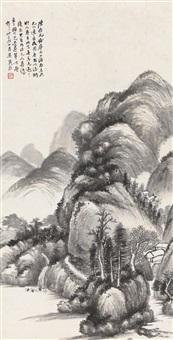 吴湖帆(1894-1968) 仿元人山水 by wu hufan