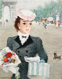 a young lady in paris by alfred sangster