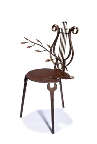 Early Lyre Chair By Mark Brazier Jones