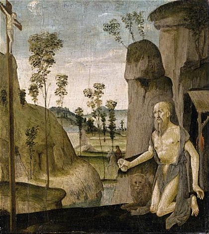 saint jerome in the wilderness by jacopo del sellaio