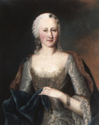 portrait of princess elizabeth therese of lorraine, half-length in silver by michael christoph emanuel hagelgans
