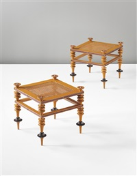 stools (pair) by jörgen roed