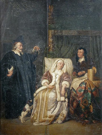 the doctors visit after gabriel metsu by pieter cornelisz van slingeland