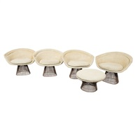 dining table, chairs and stool (6 works) by warren platner