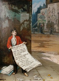 a london news boy by augustus edwin mulready
