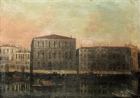 venice, a view of the grande canal at the ca'pesaro by francesco albotti