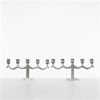 candlesticks (pair) by nils fougstedt