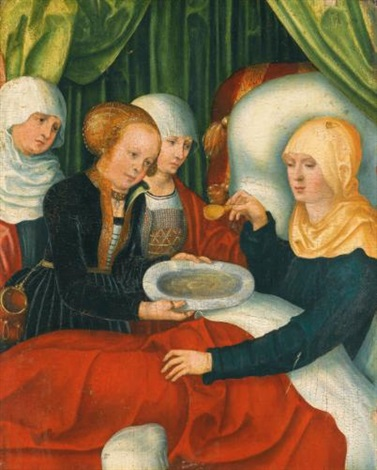 saint anne after the birth of the virgin fragment by lucas cranach the elder