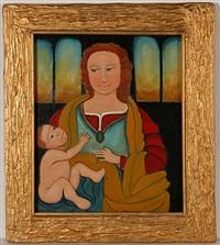 mary with baby jesus by lorenzo scott