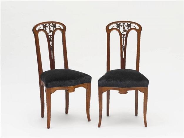 ein paar stühle pair by louis majorelle