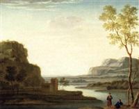 eine ideale flußlandschaft mit rastenden by mathys balen