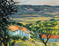 farmstead, vacluse valley, provence (near gordes) by alan cotton