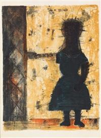 niña a la puerta by rufino tamayo