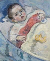 bébé au berceau by eugene dabit