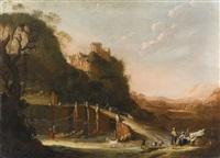 landschaft mit ruinen und hirten by daniel vertangen