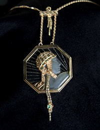 aventurine (wings of victory) necklace by erté