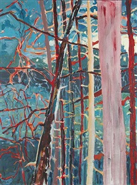 untitled (colorful forest) by laurel j. v. cormack